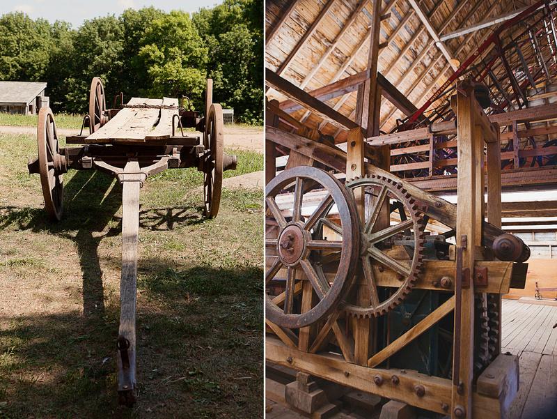 farm machinery at Ross Farm Museum