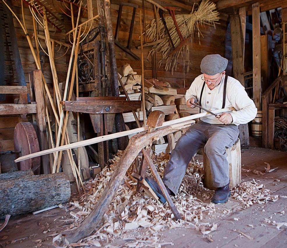 carpenter at Ross Farm Museum