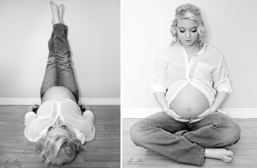 Beautiful mom to be location maternity shots