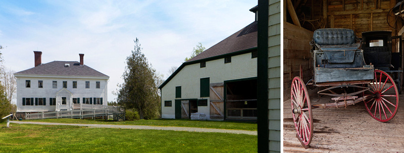 the buildings including the barn