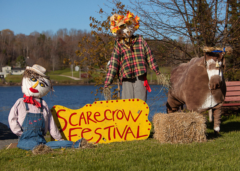 the scarecrow festival sign